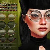 Leadlight Posh Sims 4 Glasses