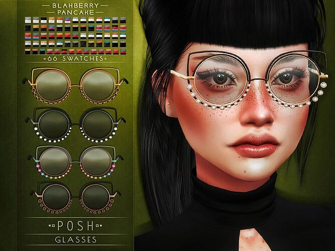 Leadlight Posh Sims 4 Glasses