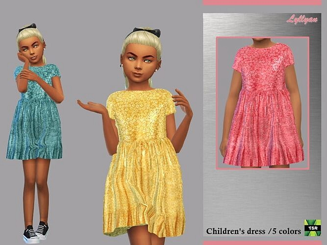 Leandra Sims 4 Dress For Kids