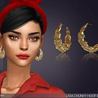 Lisia Chunky Hoop Sims 4 Earrings