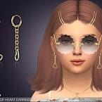 Little Heart Drop Sims 4 Earrings For Kids