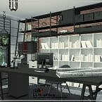 Loft Sims 4 Office Room