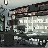 Loft Sims 4 Office Room