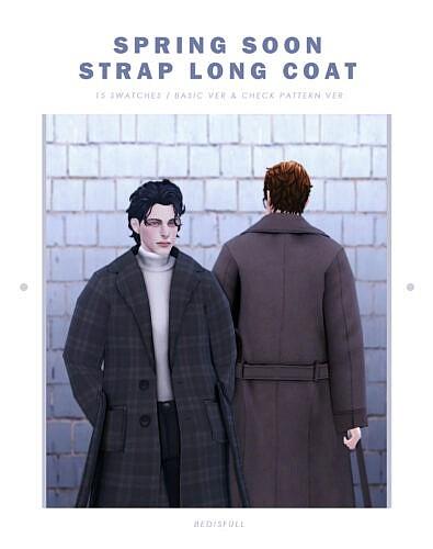 Long Coat Sims 4 Spring Soon Strap