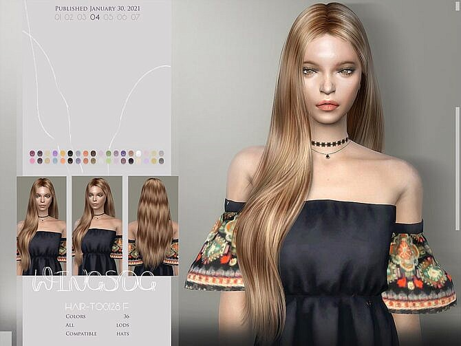 Sims 4 Long Side Part Hairstyle TO0204 by Wings Sims at TSR
