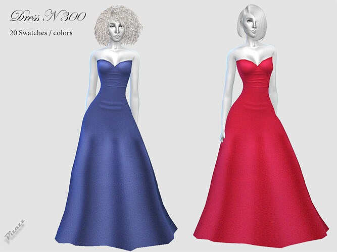 Long Sims 4 Evening Gown N300