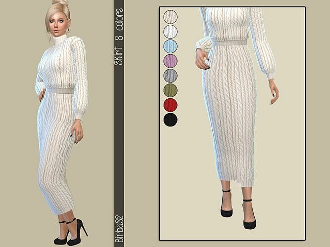 Long Sims 4 Skirt