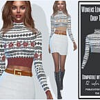 Long Sleeve Sims 4 Crop Top