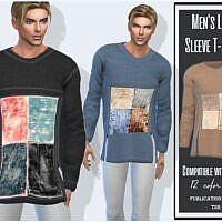 Long Sleeve Sims 4 T Shirt Male