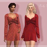 Long Sleeve Sims 4 Dress Dr398