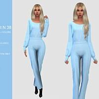 Long Sleeve Sims 4 Jumpsuit N 38