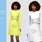 Long Sleeves Sims 4 Dress N 282