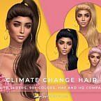 Long Wavy Ponytail Sims 4 Hair Cc