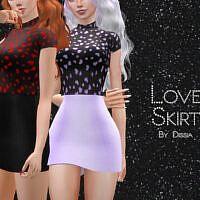 Love Sims 4 Skirt