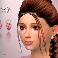 Lovely Hearts Sims 4 Earrings Child