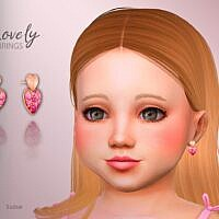 Lovely Hearts Sims 4 Earrings Toddlers
