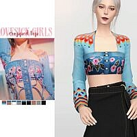 Lovesick Girls Sims 4 Cropped Top