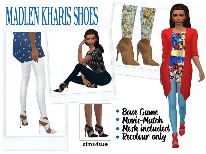 Sims 4 MADLEN'S KHARIS SHOES at Sims4Sue