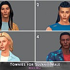 Male Sims 4 Townies For Sulani