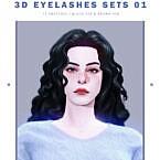 Maxis Match Sims 4 3d Eyelashes Set