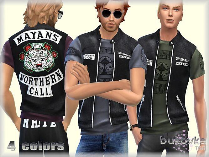 Mayans Sims 4 Biker Vest