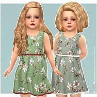Mei Sims 4 Dress Toddler Girl