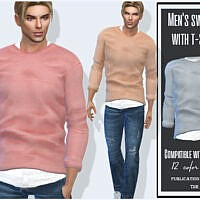 Mens Sims 4 Sweater With T Shirt