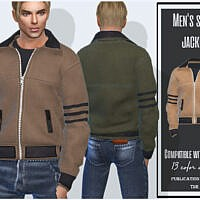 Mens Suede Sims 4 Jacket