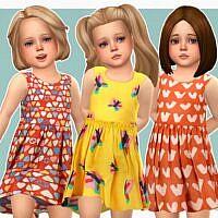 Meredith Sims 4 Dress Toddler Girls