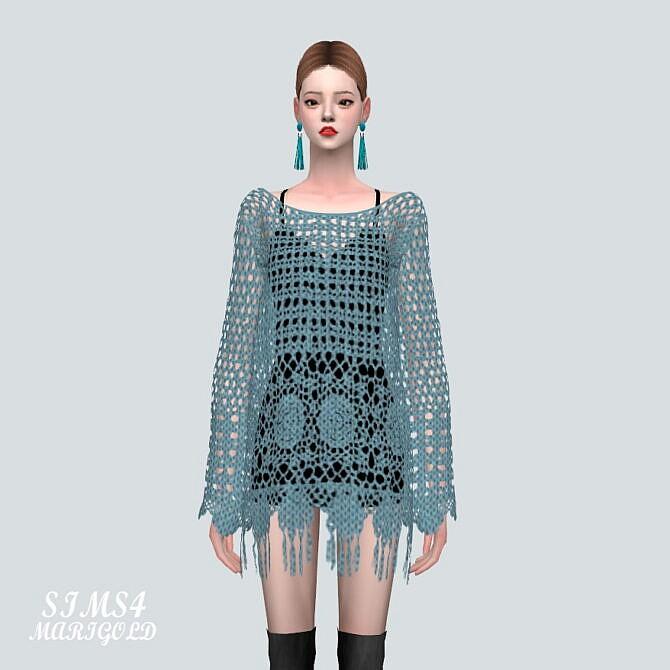 Sims 4 Mesh Mini Dress at Marigold