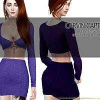 Micheva Sims 4 Skirt Set By Carvin Captoor