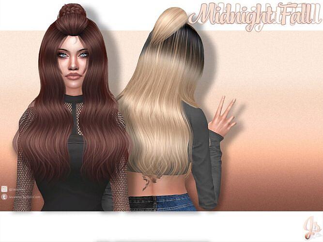 Midnight Fall Sims 4 Hair