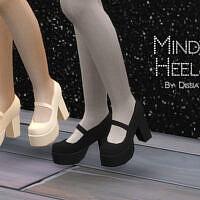 Mindy Sims 4 Shoes Heels Set