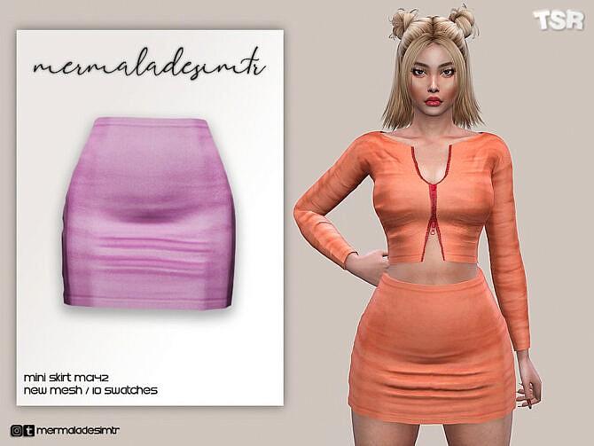 Sims 4 Mini Skirt MC142 by mermaladesimtr at TSR