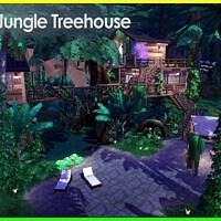 Modern Jungle Sims 4 Treehouse