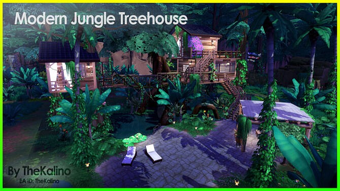 Modern Jungle Sims 4 Treehouse