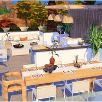 Modern Roof Sims 4 Outdoor Room