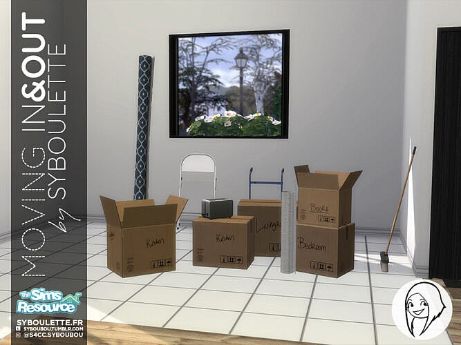 Moving In Out Sims 4 Objects Set