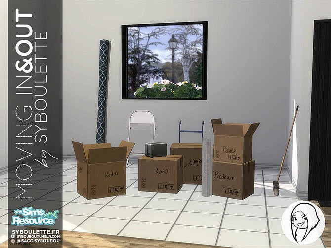 Sims 4 Moving In & Out Set by Syboubou at TSR