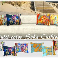Multi Color Sofa Sims 4 Cushions By Philo