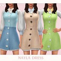 Nayla Sims 4 Dress