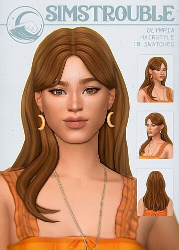 Olympia Sims 4 Hair With Bangs