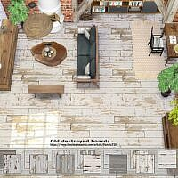 Old Destroyed Sims 4 Floor Boards