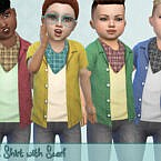 Open Sims 4 Shirt With Scarf