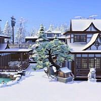 Oriental Sims 4 Spa House 30x20 1