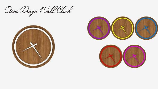 Otono Design Sims 4 Wall Clock
