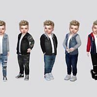 Owen Sims 4 Denim Hoodie Toddler