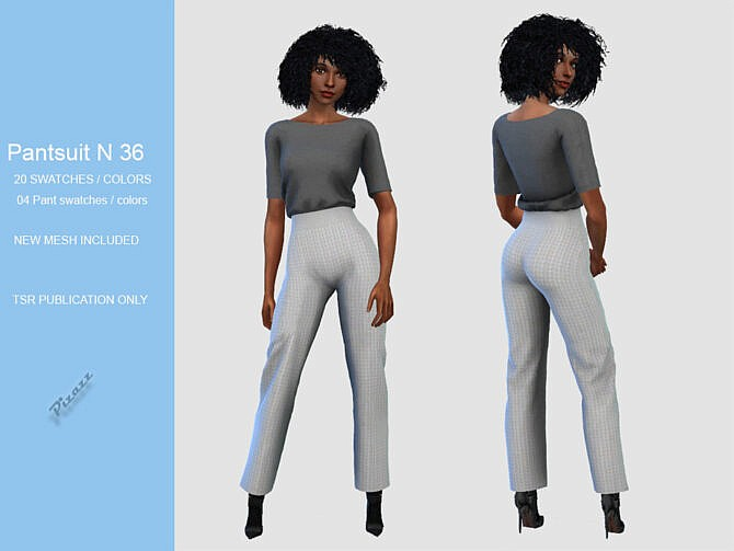 Sims 4 PANTS SUIT 36 by pizazz at TSR