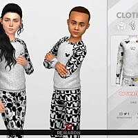 Pajama Sims 4 Tops For Kids 01