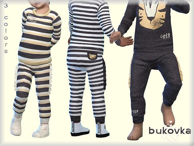 Sims 4 Little Tiger Pants by bukovka at TSR